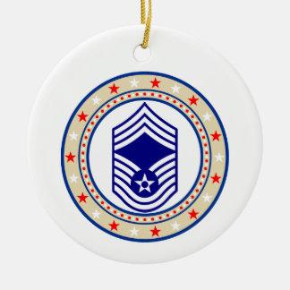 Air Force Chief Master Sergeant E-9 CMSgt Ceramic Ornament