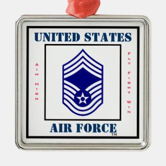 Air Force CMSgt - E-9 Metal Ornament