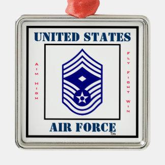 Air Force CMSgt - First Sergeant - E-9 Metal Ornament