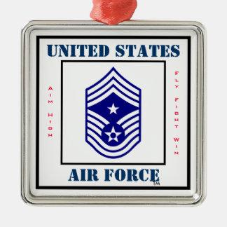 Air Force Command CMSgt - E-9 Metal Ornament