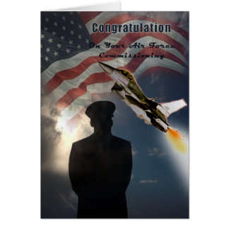 Air Force Commissioning Congratulation Card