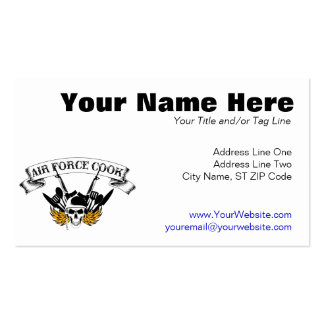 Air Force Cook Business Card
