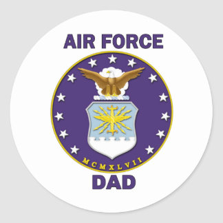 Air Force Dad Classic Round Sticker