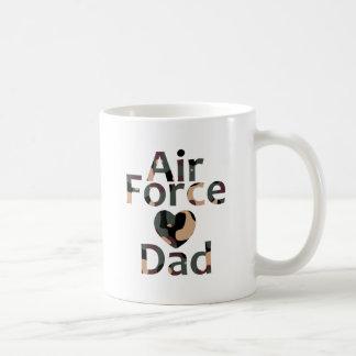 Air Force Dad Heart Camo Mug