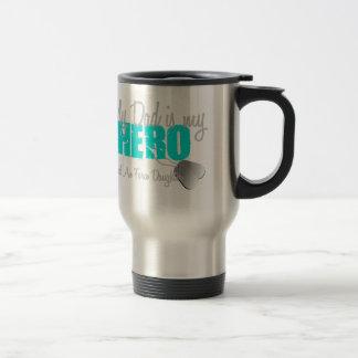 Air Force Daughter Hero Dad Travel Mug