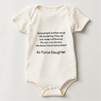 Air Force Daughter No Problem Mom Baby Bodysuit