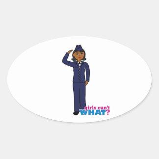 Air Force Dress Blues Dark Oval Sticker