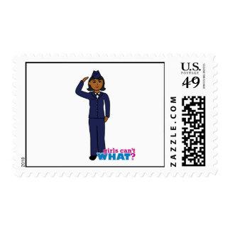 Air Force Dress Blues Dark Postage Stamp