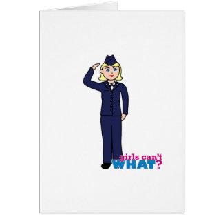 Air Force Dress Blues Light Card