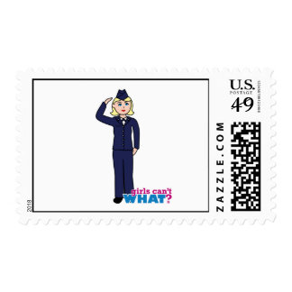 Air Force Dress Blues Light Postage Stamp