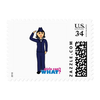 Air Force Dress Blues Medium Postage Stamp