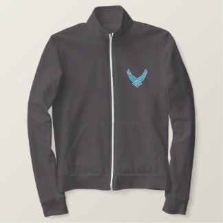 Air Force Emblem Embroidered Jacket