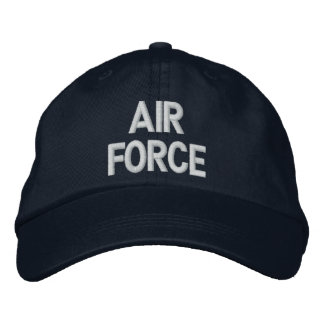 AIR FORCE EMBROIDERED BASEBALL HAT