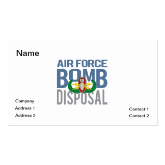 Air Force EOD Business Card