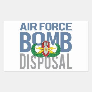 Air Force EOD Senior Rectangular Sticker