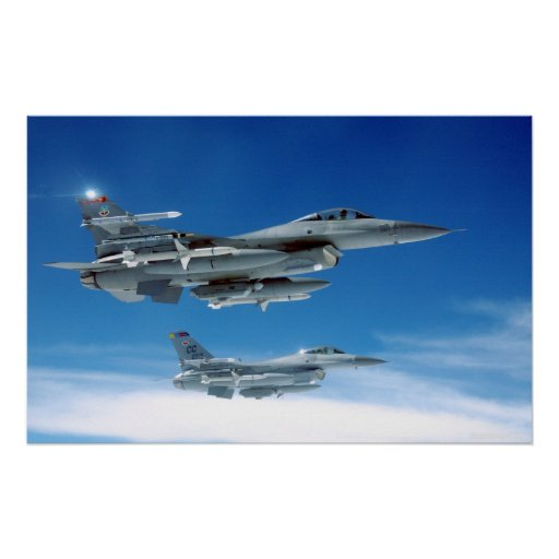 Air Force F-16's Poster