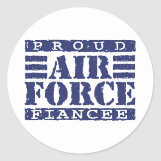 Air Force Fiancee Classic Round Sticker