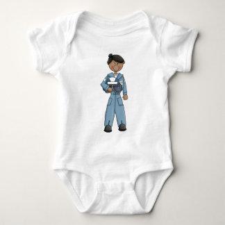 air_force_girl baby bodysuit