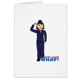 Air Force Girl Card