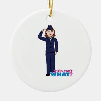 Air Force Girl Ceramic Ornament