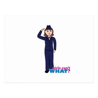 Air Force Girl Postcard
