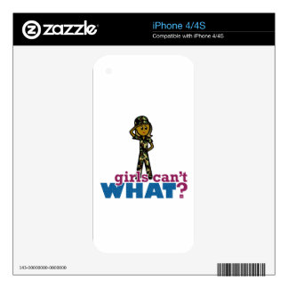 Air Force Girl Decal For iPhone 4S