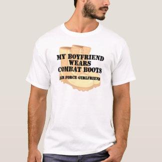 Air Force Girlfriend Desert Combat Boots T-Shirt