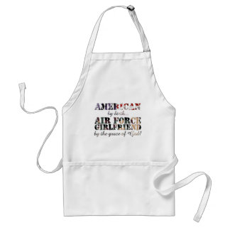 Air Force Girlfriend Grace of God Apron
