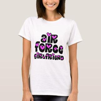 Air Force Girlfriend Pink Hearts T-Shirt