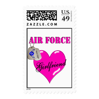 Air Force Girlfriend Postage Stamps