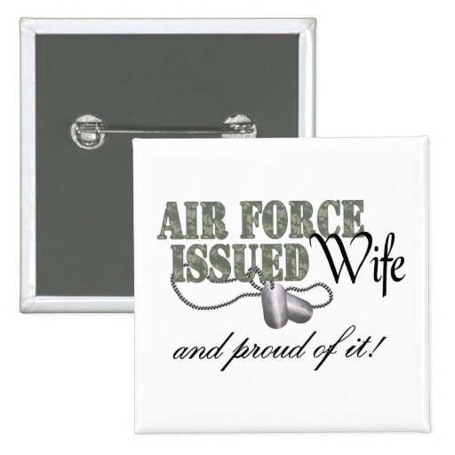 Air Force Issued Wife Buttons