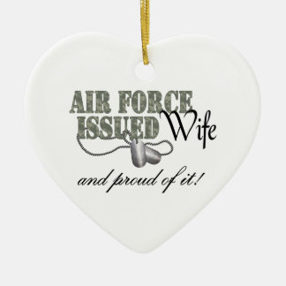 Air Force Issued Wife Ceramic Ornament