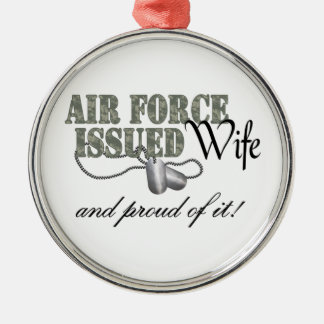 Air Force Issued Wife Metal Ornament