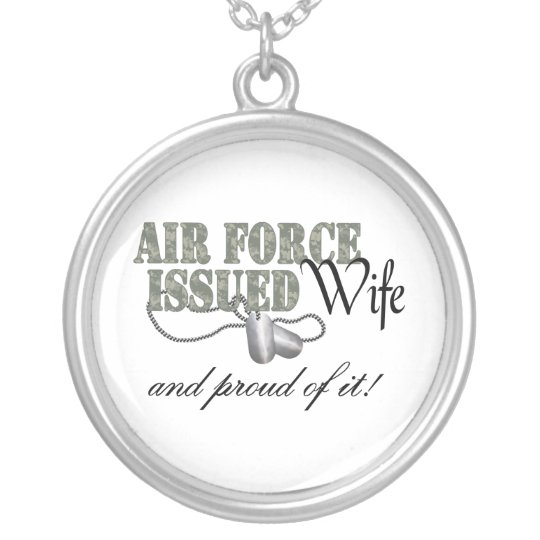 Air Force Issued Wife Silver Plated Necklace