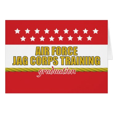 Air Force JAG Corps Training Graduation Card