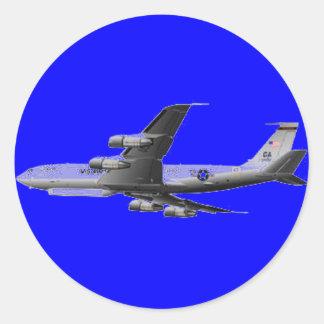AIR FORCE JET AIRCRAFT CLASSIC ROUND STICKER