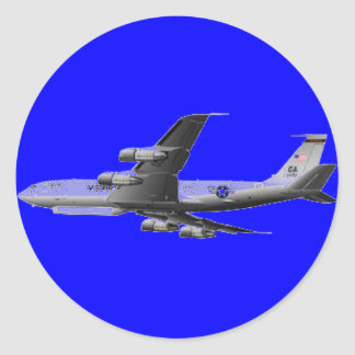 AIR FORCE JET AIRCRAFT ROUND STICKERS