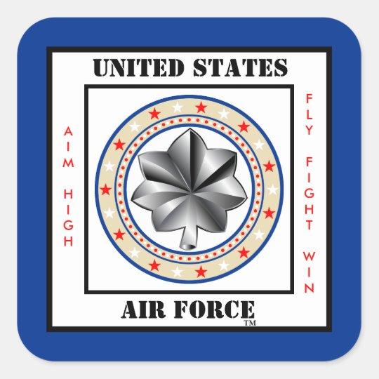 Air Force Lieutenant Colonel Ltc O 5 Square Sticker Zazzle