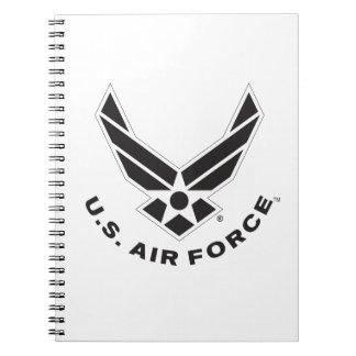Air Force Logo - Black Notebook