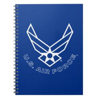 Air Force Logo - Blue Notebook