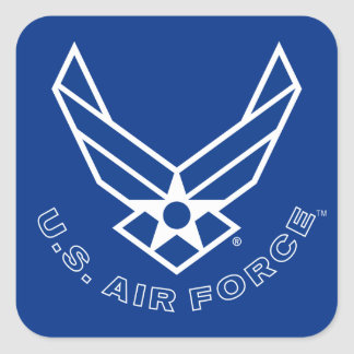 Air Force Logo - Blue Square Sticker