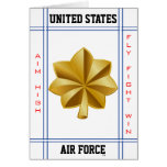 Air Force Major O-4 Maj Card