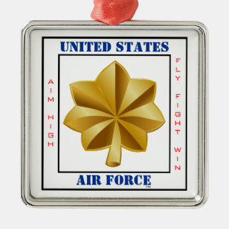 Air Force Major O-4 Slogan Metal Ornament