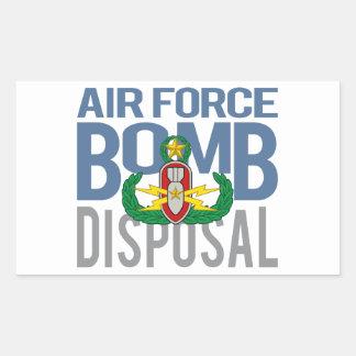 Air Force Master EOD Rectangular Sticker