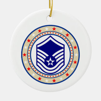 Air Force Master Sergeant MSgt E-7 Ceramic Ornament