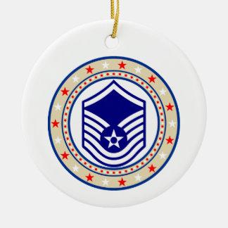 Air Force Master Sergeant MSgt E-7 Ceramic Ornament