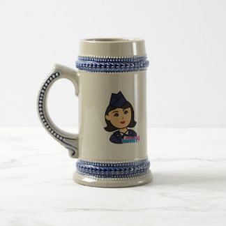 Air Force Medium Head Beer Stein