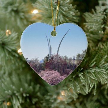 Air Force Memorial Heart Ornament
