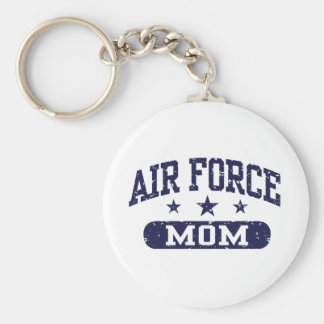 Air Force Mom Basic Round Button Keychain
