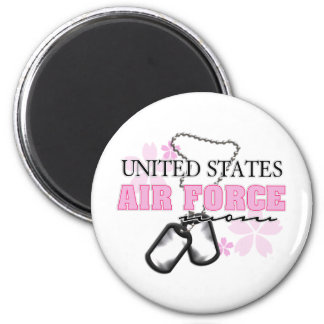 Air Force Mom flowers Magnet